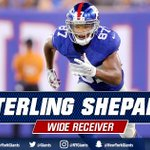 TOUCHDOWN #Giants! Eli Manning to Sterling Shepard for a 23-yard TD and its 14-3 Big Blue! #WASvsNYG https://t.co/YYn44Qh01R