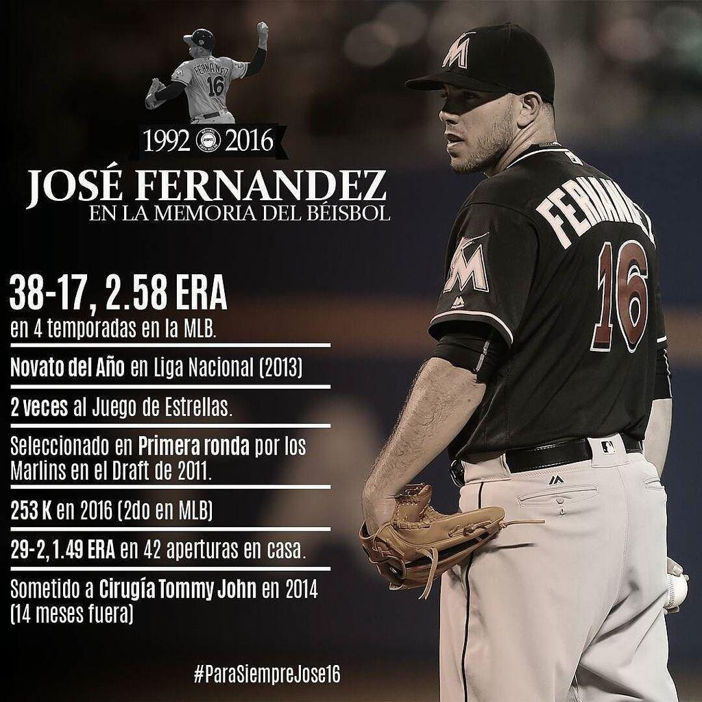 José Fernández deja números que quedarán en la memoria del béisbol #ParaSiempreJose16 #RIP #ElCaminoESPN #PonleAcen… https://t.co/kM6WzcYCTe