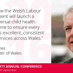 Today @fmwales told #Lab16 about the new universal child health programme in Wales ↓ https://t.co/cWzOpj3lu1