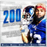 That Odell Beckham Jr. 26-yard catch was the 200th of his career! Congrats Odell! #GiantsPride https://t.co/pIFl4BnIrD