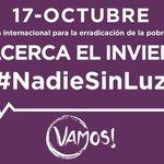 Llega el invierno. El 17 de Octubre #NadieSinLuz #VamosFraternidadPopular https://t.co/0dPHKVwQwW