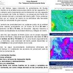 ATENTO #Veracruz se prevé temporal lluvioso. Norte con rachas de 60 a 70 km/h entre martes-miércoles #AvisoEspecial https://t.co/p8rzlecPrE