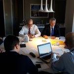 #Now: Getting ready for the meeting w #UNSG....@AnastasiadesCY, @IKasoulides, @AMavroyiannis, #CyprusProblem https://t.co/B4BA8cRO5g