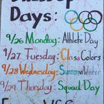 Homecoming week starts tomorrow with athlete day! Show your school spirit! #CrusherNation https://t.co/nMoW2ppgB7