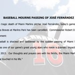 Commissioner Rob Manfred on the heartbreaking loss of José Fernández. https://t.co/mYv6aCWhRc