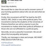 Who are we and what do we stand for? #Occupy4FreeEducation #OccupyUP #Fees2017 #UPShutdown https://t.co/lzAWrvbkDD