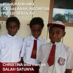 Tapi bukan hanya Christina ternyata, masih ada 6,9 Juta anak Indonesia usia 7-18 tahun yang tidak bersekolah https://t.co/gB5WuUpdbZ