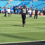 """Cam Newton wearing a shirt for warmups that reads """"Injustice anywhere is a threat to justice everywhere."""" #Panthers https://t.co/e3IVo3Qp4X"""