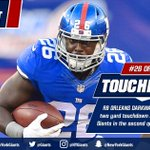 TOUCHDOWN! Orleans Darkwa hits the hole for a two yard score and its 21-9 Big Blue! #WASvsNYG https://t.co/rLRZRBohfM