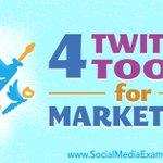 4 Twitter Tools for Marketers : Social Media Examiner https://t.co/xY9LZfFrqU https://t.co/28XHFRFtST