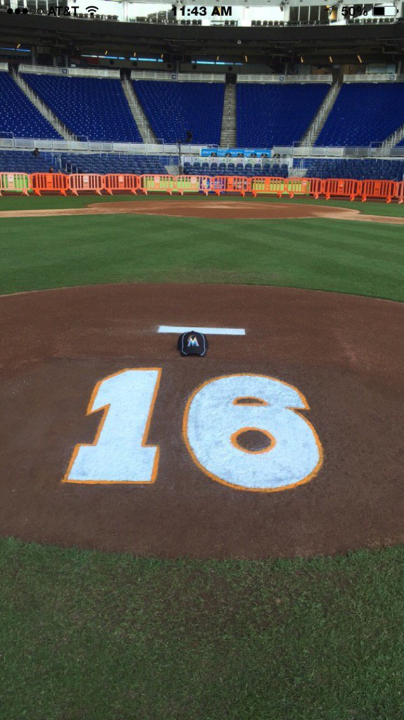 The mound at Marlins Park https://t.co/X4yp7CE7QE