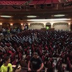 Hundreds of volunteers showed up Sunday morning to help Paramount Theater move its 880 floor seats for #Flood2016 https://t.co/MufJOl0IsT