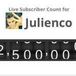 DANKE DANKE DANKE an 2,5 Millionen Menschen die mich auf meinem YouTube Kanal verfolgen ☺️ IHR seid alles 💙 https://t.co/VQnGovyObJ