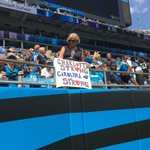 Signs of #CharlotteStrong are here for the Panthers game https://t.co/mmsbby1BIo