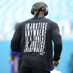 Cam Newton wore a shirt with a quote by Martin Luther King Jr. during warm ups today. https://t.co/pU7mKlZWRz