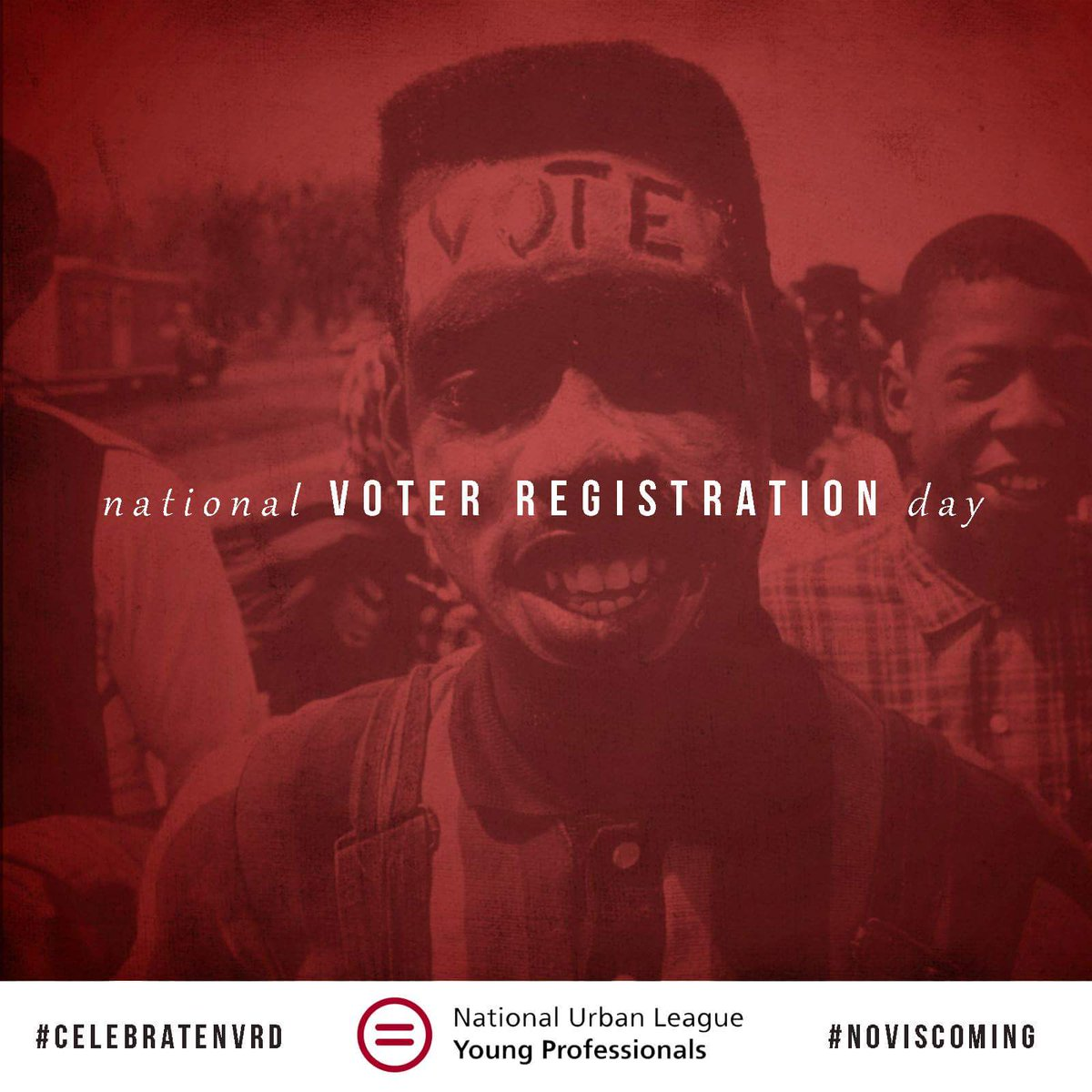 #NovIsComing 9/27 is Nat'l Voter Registration Day. Use your rights! Register & promote voting! #WeMustVote https://t.co/0mW4viJ6RO