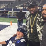 50 cent rocking the #Cowboys gear pregame!!! 📷 via @MikeLeslieWFAA https://t.co/8RpfjRb3mk