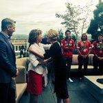 Great to see @christyclarkbc and talk about #Indigenous languages, cultures and repatriation of artefacts #cdnpoli #RoyalVisitCanada https://t.co/jerlD2m2gh