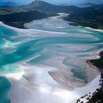 La plus belle plage du monde, Whitehaven Beach en Australie 💦🌎✈️ https://t.co/9t15DB9lGp