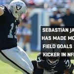 Congratulations to @RAIDERS Kicker Sebastian Janikowski on his @NFL record! https://t.co/TvnPaeHbDN