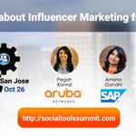 Learn #influencermarketing best practices at the Social Tools Summit San Jose https://t.co/Thjm3yW5N5 #socialtools16 https://t.co/p1qmCyalCk
