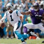 Vikings defense is shutting down Cam Newton today: • 6 sacks • 2 Int • 0 Pass TD (1 Rush TD) https://t.co/5fjkkXLJPc