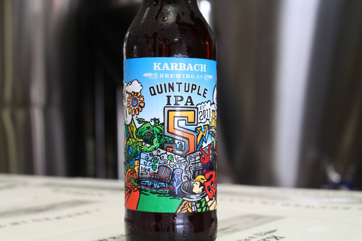 "5th Anniversary ""Quintuple"" IPA hits shelves this week!  13% ABV dry-hopped with Vic Secret! https://t.co/mn5CJUlw6h"