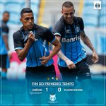 Fim do primeiro tempo: Grêmio 1x0 Chapecoense #Brasileirão2016 #PraCimaDelesGrêmio #GRExCHA #DiaDeGrêmio https://t.co/xuX9CLTsow