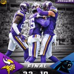 Your Vikings win and break the @Panthers 14 game home winning streak! FINAL: Vikings 22 - Panthers 10 https://t.co/cLfBDEXIXe