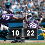 Cam Newton sacked 8 times, @Panthers lose to Minnesota 22-10 PHOTOS: https://t.co/TeXfyeMpf2 https://t.co/iqRMjHXqdi