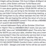 PLEASE READ!!!!!🚨🚨 Many important events and announcements!!! https://t.co/7UrhuFeWuQ
