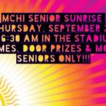 Senior Sunrise 🌅 is this Thursday! Come join us on the turf at 6:30 am! #co17 @Mchi_Yearbook @McHiPride https://t.co/c71YzFlm53