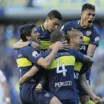 Final del primer tiempo en la Bombonera. #Boca supera 4-1 a Quilmes con tres goles de Benedetto y uno de Centurión. https://t.co/QQKJigLMcV