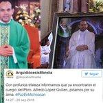 ⚠ A días de ser secuestrado, localizan el cuerpo del sacerdote Alfredo López Guillén https://t.co/rDrSYWhjzJ https://t.co/NN9MNdiML8