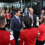 A Prince, a Prime Minister @JustinTrudeau and some @RugbyCanada womens 7s Olympic bronze medal winners. #cool https://t.co/au6ixuCHA9
