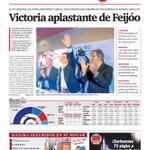 Portada del lunes 26 de septiembre de 2016: Victoria aplastante de Feijoo. #eleccionsgalegas https://t.co/SRwyGqyUcX
