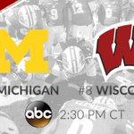No. 8 Wisconsin. No. 4 Michigan. Saturday   2:30pm CT   ABC This should be fun. #OnWisconsin https://t.co/WXw6yhR1Gu