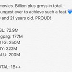 All the best for both of you. #KathNiel5Movies1Billion https://t.co/JhQPG6einK