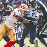 LB @NBELLORE54 gets his 1st career INT, 2 TDs + 103 yards for @elguapo Notes from #SFvsSEA: https://t.co/gFRAbfuE3Q https://t.co/ftGHDjezBQ