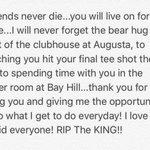 Ill miss you friend #ripTheKING https://t.co/KIoz0CH59F