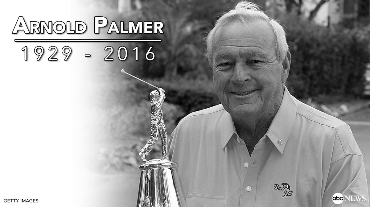 JUST IN Golf Legend Arnold Palmer Has Died At Age 87 According To The