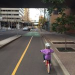 Riding back from @suzettebistro with the 7yo. Cycle tracks rule. 🚲 #yycbike https://t.co/Ut4T7cgBGY