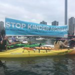#Kayaktivists welcome @JustinTrudeau & the #RoyalVisitCanada. #StopKinderMorgan #StopKM #bcpoli #vanpoli https://t.co/89SNwCCunH