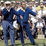 The King made golf cool. This is one of my favourite sports pics of all time. Hogan and Arnie. https://t.co/m6K2qMb92O