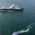 Imágenes del sobrevuelo realizado esta tarde a la zona donde se ubica el buquetanque Burgos https://t.co/3Bdffon2XI