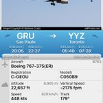 DIVERSION @AirCanada #AC91 to #Toronto is returning to Sao Paulo. https://t.co/LnaUMFDvKk