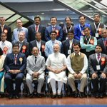 PM Shri @narendramodi with the Awardee Scientists at the CSIR Platinum Jubilee Celebrations, in New Delhi https://t.co/5dvVKw1uYy