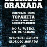 GLORIOSO - GRANADA.  No al fútbol entre semana!  #NiUnVotoATebas https://t.co/el3HDQP3Pc