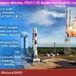Congratulations to #ISRO team on successful launch of PSLV C-35 carrying SCATSAT-1 & 7 co-passenger satellites. https://t.co/NJZftm6pkG