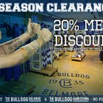 Members, take advantage of your 20% discount off full priced items, in-store at the Bulldog Belmore and Bulldog Bankstown #proudtobeabulldog https://t.co/RRohlvMRaa